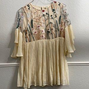Umgee Boho Floral Dress Size medium